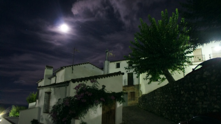 Grazalema on a moonlit night