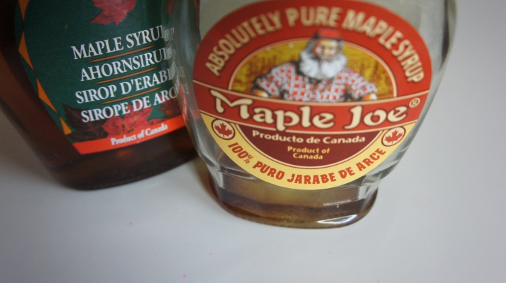 Excited to find maple syrup in Huelva!