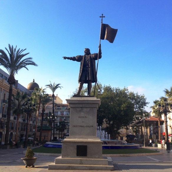Sunny winter day in Christopher Columbus' Huelva.
