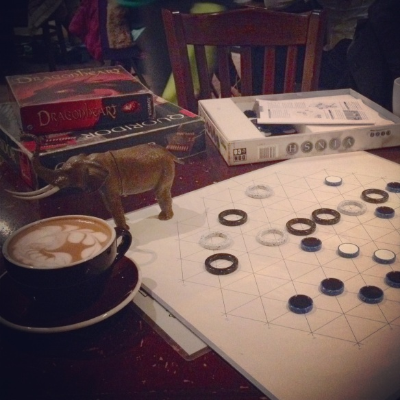 One of 2012's last outings: boardgames and treats at Snakes and Lattes
