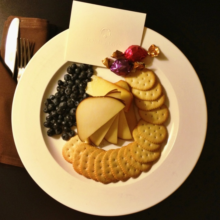 Hospitality at the Lord Elgin -- a lovely sight to come home to:)