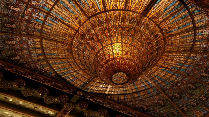 The ceiling could almost steal the show at the Palau de musica