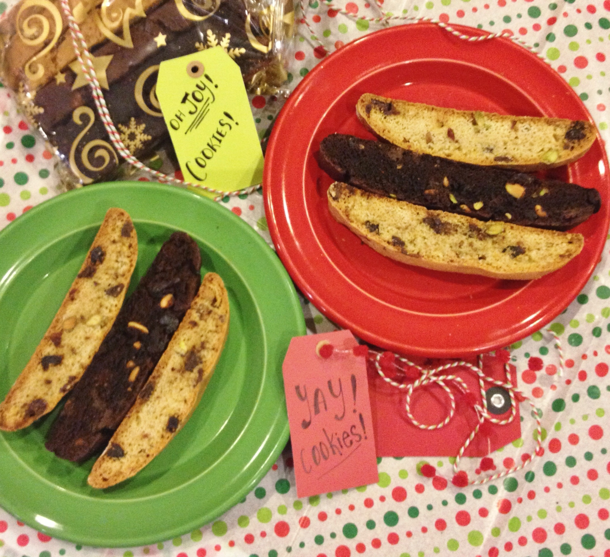 Chocolate Pistachio Biscotti Cookie Recipe — Dishmaps