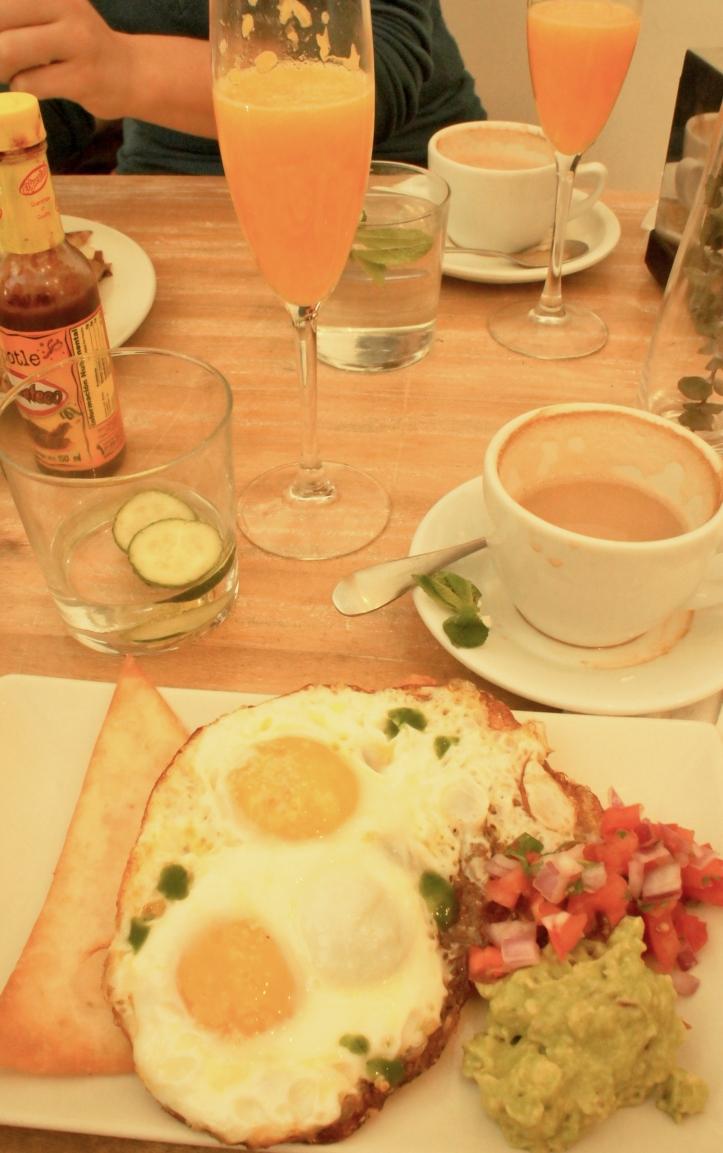 huevos rancheros at toast cafe
